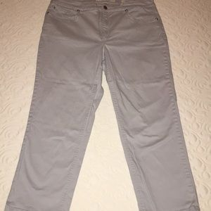 Jones New York Jeans Gray Soho Capri Pants
